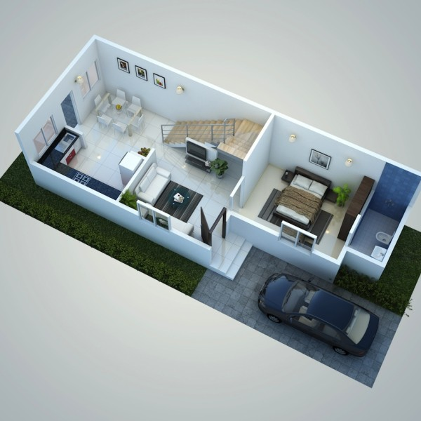 Attractive Home Design 20 X 50 Part - 10: 20 50 House Design - House Interior